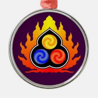 3つ石-道教/タオTe Ching/ラオス語Tzu メタルオーナメント
