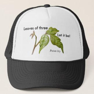 3のツタウルシの帽子の…葉は、それがあるようにしました! 、… キャップ