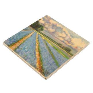 3の春の花の製造所の絵画のトリプティクのイメージ3 ウッドコースター