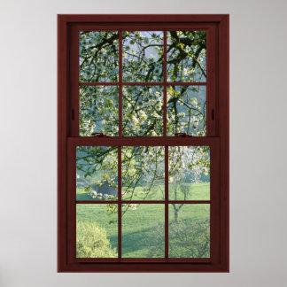 3の桜の見晴らし窓の錯覚#1 ポスター