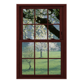 3の桜の見晴らし窓の錯覚#2 ポスター