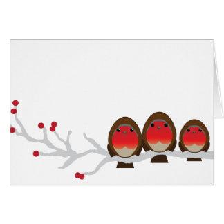 3クリスマスカード(1人の男の子)のロビンの系列 カード