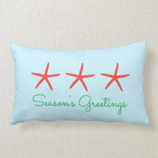 3ヒトデの季節の挨拶の枕 ランバークッション