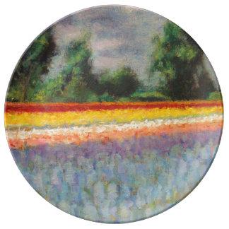 3ファインアートの花分野のトリプティクのイメージ1 磁器プレート