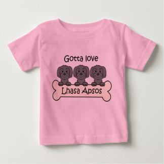 3ラサApsos ベビーTシャツ