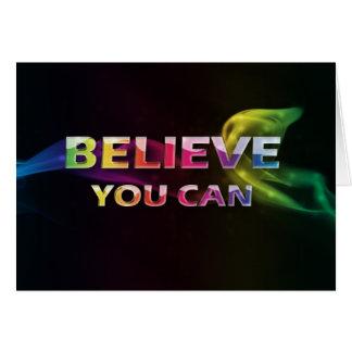 3ワードQuote~Believe Can~Encouragementカード カード