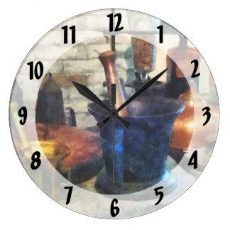 3乳鉢および乳棒 ラージ壁時計