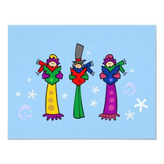 3人のクリスマスの聖歌隊の招待状 カード