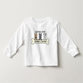 3人のグレートデーン トドラーTシャツ