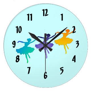 3人のダンサー ラージ壁時計