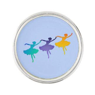 3人のダンサー-青のバレリーナ ラペルピン
