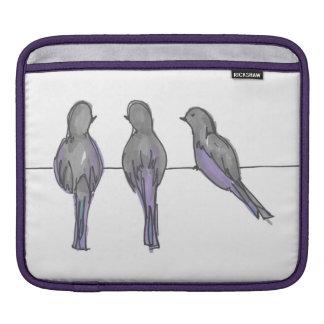 3人のハト友達のiPadカバー iPadスリーブ
