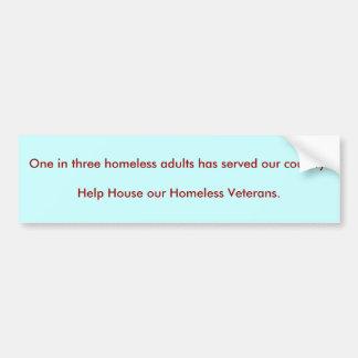 3人のホームレスの大人に付き1人は私達のcouに…役立ちました バンパーステッカー