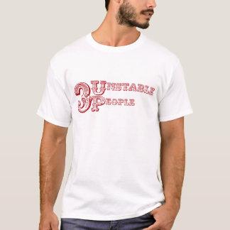 3人の不安定な人々のロゴ-赤 Tシャツ