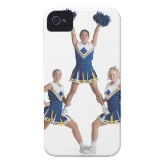 3人の十代のコーカサス地方のメスのチアリーダー Case-Mate iPhone 4 ケース