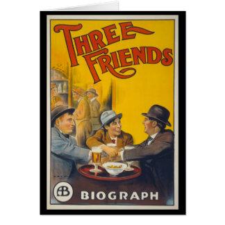 3人の友人 グリーティングカード