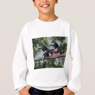 3人の友達のToucanの子供のスエットシャツ スウェットシャツ