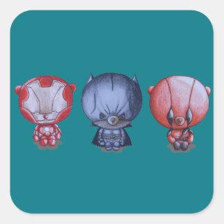 3人の小さい英雄 スクエアシール