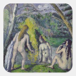 3人の水浴者、c.1879-82 スクエアシール