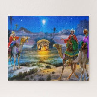 3人の王が付いている出生の休日のジグの鋸 ジグソーパズル