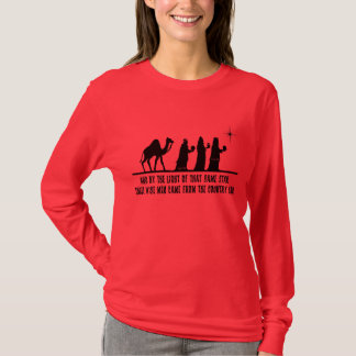 3人の賢者の女性キリスト教のクリスマスLSのワイシャツ Tシャツ
