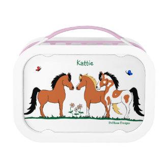 3人の馬の相棒のお弁当箱 ランチボックス
