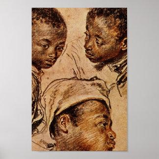 3人の黒人の男の子 ポスター