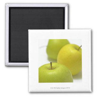 3個のりんご、クローズアップ マグネット