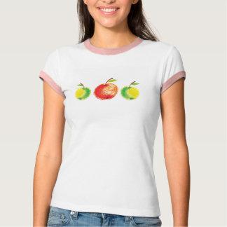 3個のりんご Tシャツ