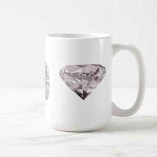 3個のダイヤモンドの輝やき コーヒーマグカップ
