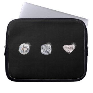 3個の水晶ダイヤモンド ラップトップスリーブ