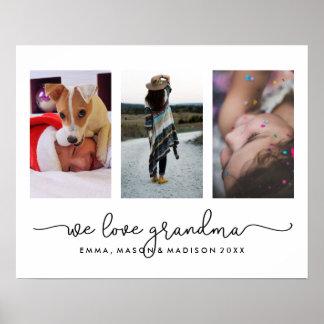 3写真およびタイポグラフィ|私達は祖母を愛します ポスター