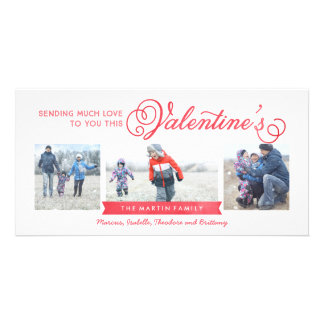 3写真のバレンタインデーカード カード