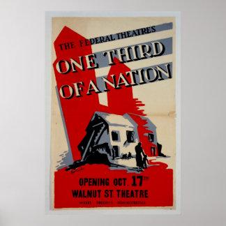 3分の1国家のヴィンテージポスターの ポスター