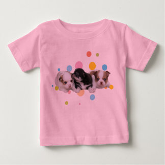 3匹のかわいい子犬(犬) ベビーTシャツ