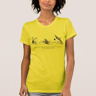 3匹のよくはしゃぐなシャチのファッションのTシャツ Tシャツ