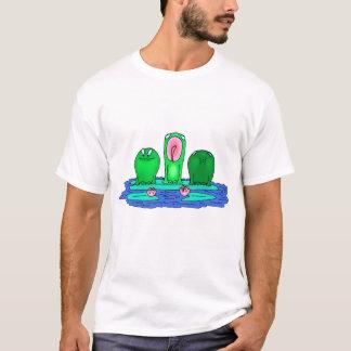 3匹のカエルのティー Tシャツ