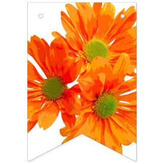 3匹のガーベラだけの花 + あなたのbackgr。 及びアイディア バンティングフラッグ