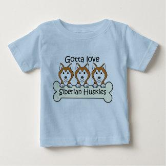 3匹のシベリアンハスキー ベビーTシャツ
