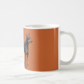 3匹のドーベルマン犬犬 コーヒーマグカップ