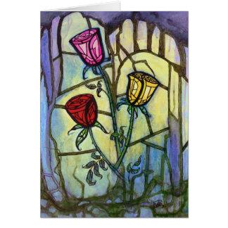 3匹のバラの挨拶状 カード