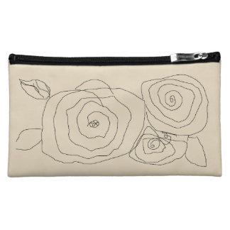 3匹のバラ コスメティックバッグ