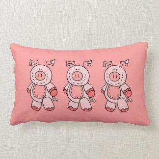 3匹のブタの枕 ランバークッション