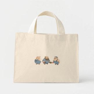 3匹の古いブタ ミニトートバッグ
