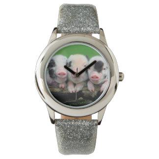 3匹の小さいブタ-かわいいブタ- 3匹のブタ 腕時計