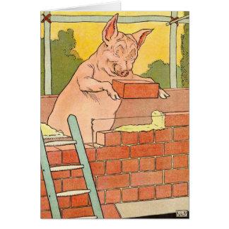 3匹の小さいブタ: 家を造る煉瓦 カード