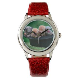 3匹の小さいブタ- 3匹のブタ-ブタの帽子 腕時計