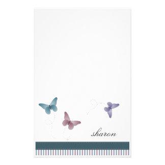3匹の小さい蝶文房具 便箋