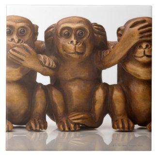 3匹の木猿の切り分けること タイル