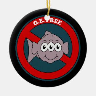 3匹の注目された魚G.E.は自由に署名します セラミックオーナメント